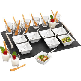 London Drugs Slate Tapas Set - 41 piece