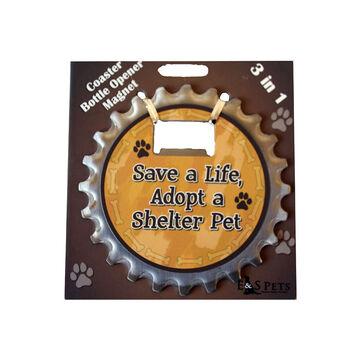 Pet Coaster - Save A Life, Adopt a Shelter Pet