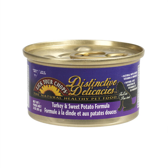 Destinctive Delicacies Cat Food - Turkey & Sweet Potato - 3oz