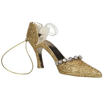 Winter Wishes Elegance High Heel Ornament - 4.5 inch