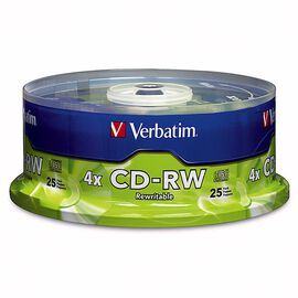Verbatim 700MB CD-RW 4X Storage Media - 25 pack