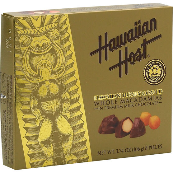 Hawaiian Host Honey Chocolate Macadamias - 106g