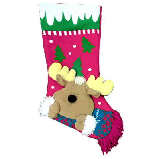 Winter Wishes Whimsical Stocking - Assorted
