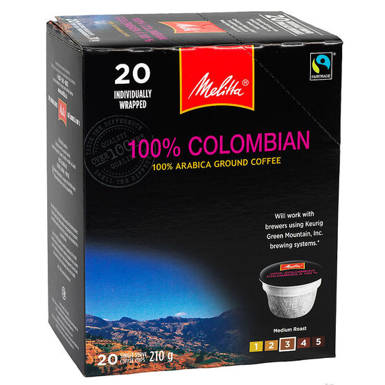 Melitta Cups 100% Columbian Coffee - 20 servings