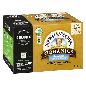 K-Cup Newman's Own Organics Coffee - Special Blend - 12 Servings