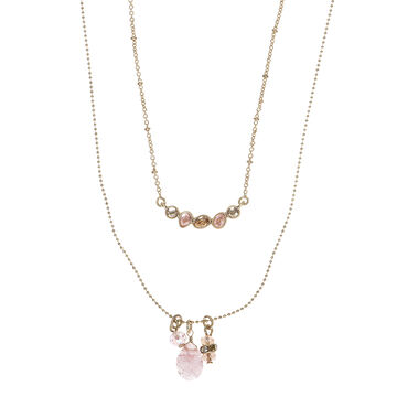 Lonna & Lilly 16-inch Layered Necklace - Peach