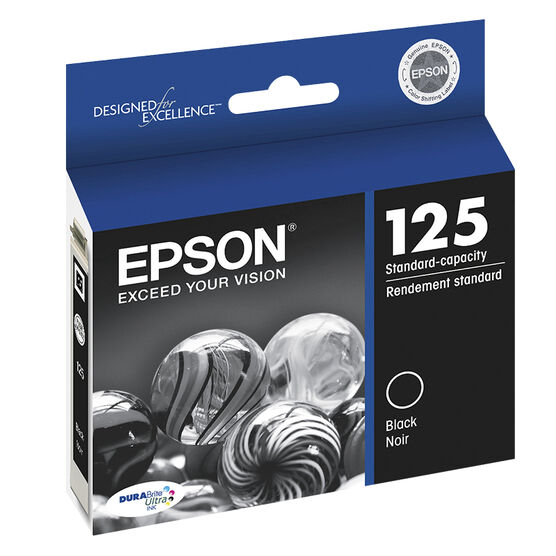 Epson Durabrite Ultra Ink 125 Standard-Capacity Ink Cartridge - Black - T125120