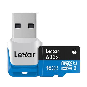 Lexar 633X Micro SDHC - 16GB - LSDMI16GBB1NL633
