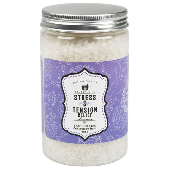 Therapeutic Stress & Tension Relief Bath Crystals - Lavender - 485ml