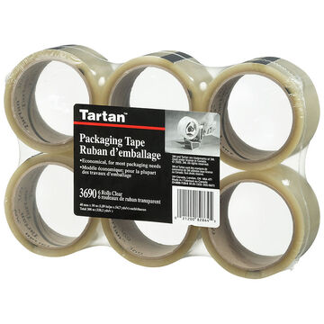 3M Box of Clear Sealing Tape - 6 pack