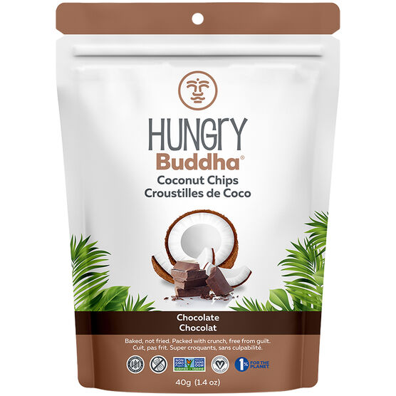 Hungry Buddha Coconut Chips - Cheeky Chocolate - 40g