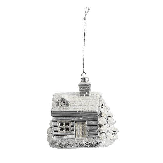 Winter Wishes Snowy House Ornament - XLD2016-27UFOB