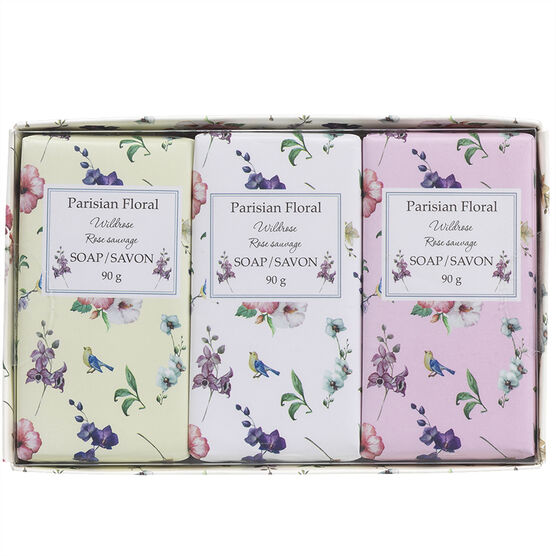 Parisian Floral Soap - Wild Rose - 3 x 90g