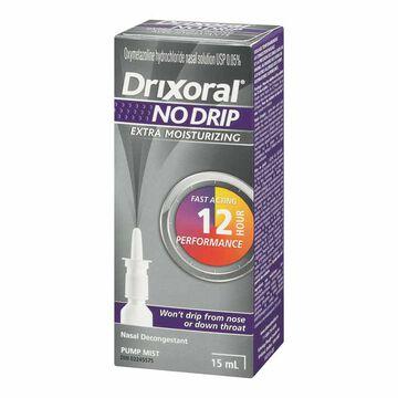 Drixoral No Drip Extra Moisturizing Nasal Decongestant - 15ml