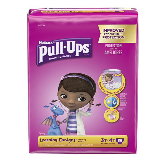 Pull-Ups Learning Designs Training Pants - Girls - Size 3T-4T - 38's