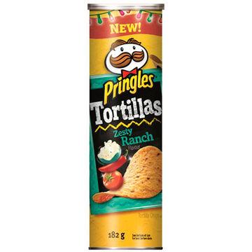 Pringles Tortilla Chips - Zesty Ranch - 182g