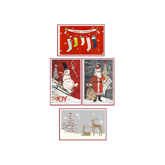 American Greetings Deluxe Christmas Cards - Red & White - 14 count - Assorted