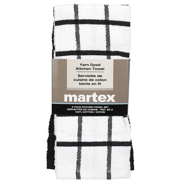 Martex Yarn Kitchen Towels - Assorted - 2 pack