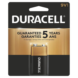 Duracell CopperTop 9V Alkaline Battery - 1 pack