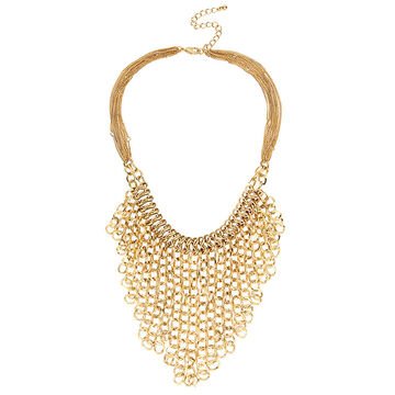 Haskell Bib Necklace - Gold