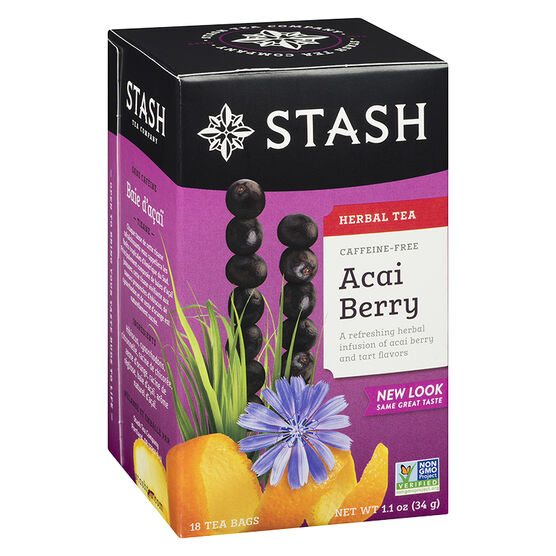 Stash Acai Berry Caffeine Free Herbal Tea - 18's