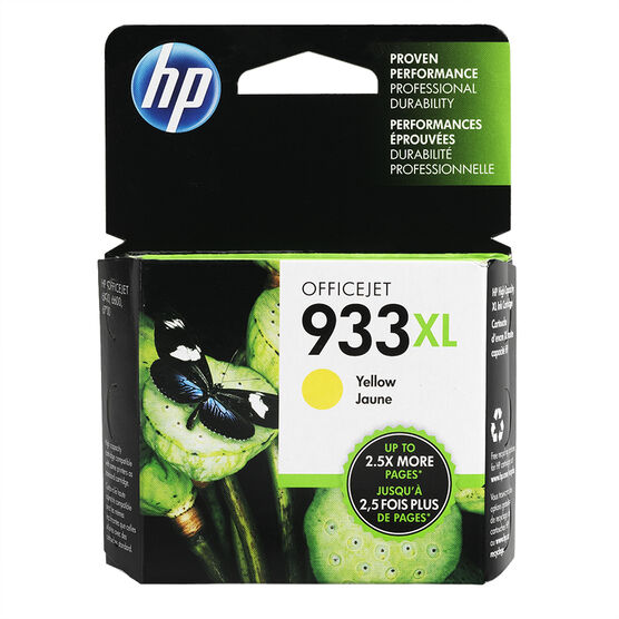 HP 933XL High Yield Officejet Ink Cartridge - Yellow - CN056AC#140