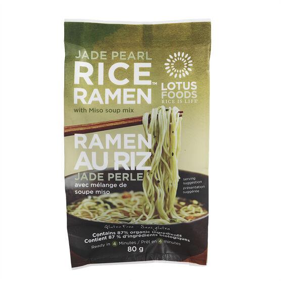 Lotus Foods Jade Pearl Rice Ramen with Miso Soup