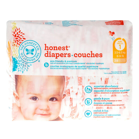 Honest Diapers - Size 1 - 38's