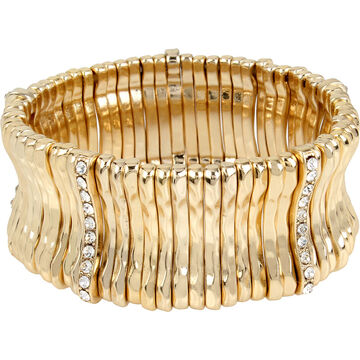 Haskell Stretch Bar Bracelet - Crystal/Gold