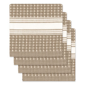 Kitchenworks Waffle Dish Cloth - Taupe - 4 pack