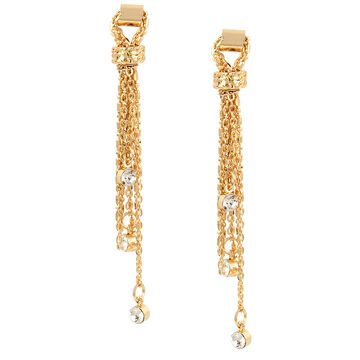 Haskell Chain Tassel Earrings - Gold