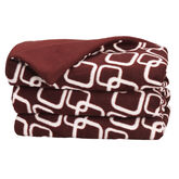 Sunbeam Cuddle Up Throw - Red/White - TSF8UR-XR02