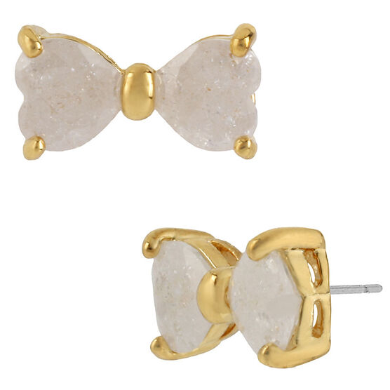 Betsey Johnson Bow Stud Earrings - Ivory