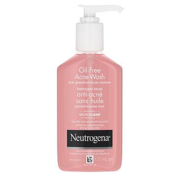 Neutrogena Oil-Free Acne Wash Pink Grapefruit Facial Cleanser - 177ml