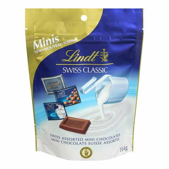 Lindt Swiss Assorted Mini Chocolates Pouch - 114g