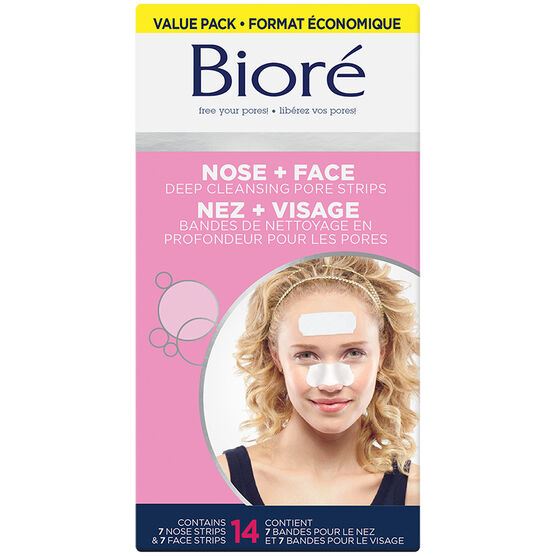 Biore Deep Cleansing Pore Strips Combo for Face & Nose - 14 strips