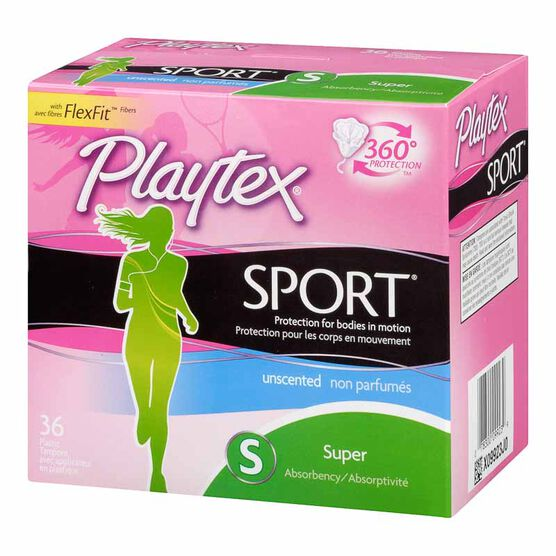Playtex Sport - Super - Unscented - 36's