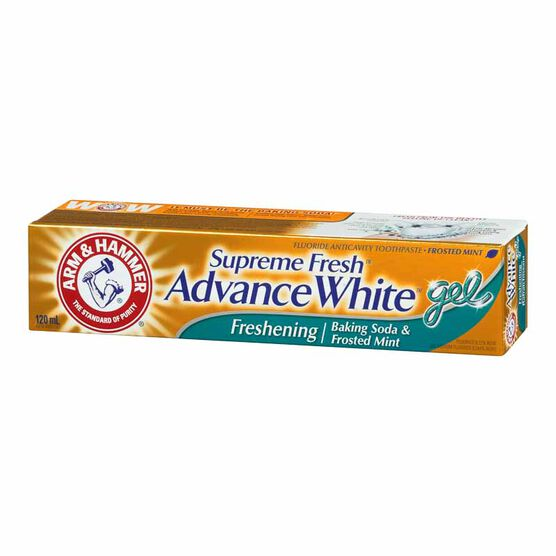 Arm & Hammer Supreme Fresh Advance White Freshening Gel Toothpaste - Frosted Mint - 120ml