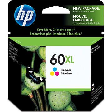 HP 60XL High Yield Ink Cartridge - Tri-Color - CC644WN#140