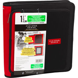 Five Star Tech Tablet & E-Reader Zipper Binder - Assorted - 1.5""