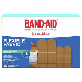 Band-Aid Flexible Fabric Bandages - Assorted Sizes - 80's