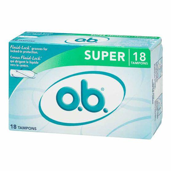 O.B. Super Tampons - 18's