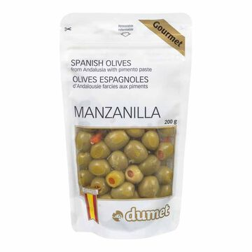 Dumet Gourmet Manzanilla Olives with Pimento Paste - 200g