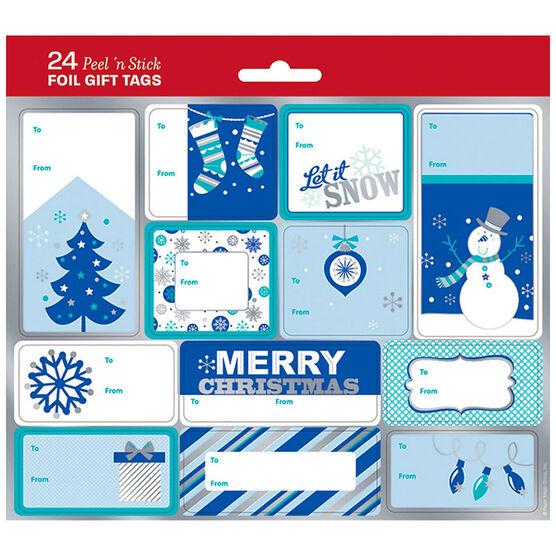 Christmas Glacial Glamour Gift Tags - 24s