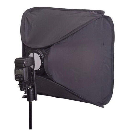 "Techpro Folding Softbox Kit 24""x24"" with bonus Techpro Air Cushioned Lightstand"