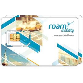 Roam Mobility 4G LTE USA Travel Sim Card - 2 Pack
