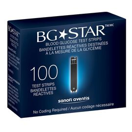 Sanofi Aventi BG Star Blood Glucose Test Strips - 100's