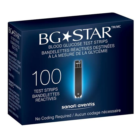 sanofi aventi bg star blood glucose test strips 100 39 s. Black Bedroom Furniture Sets. Home Design Ideas