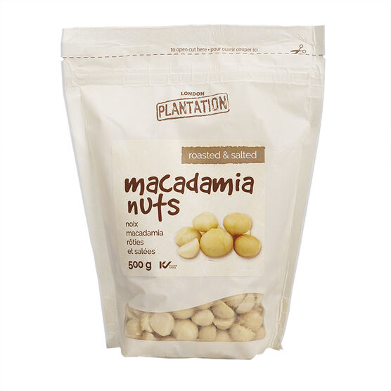 London Plantation Macadamia Nuts - Roasted & Salted - 500g