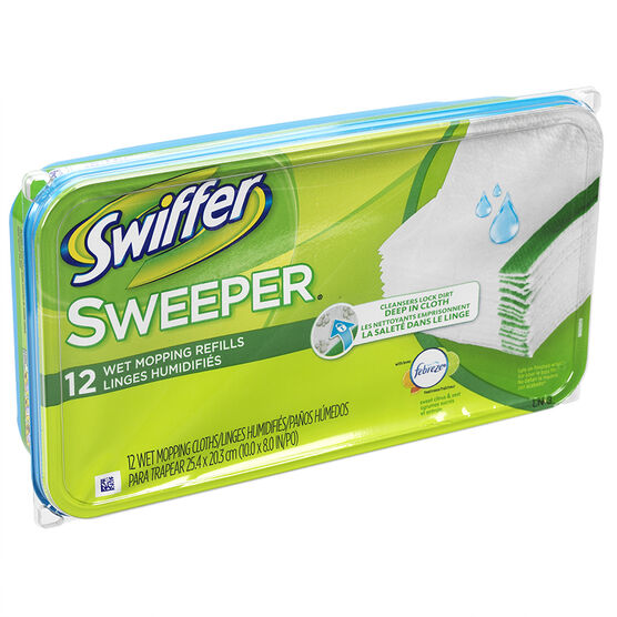 Swiffer Wet Refills with Febreze - Citrus - 12's
